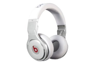 Beats By Dr. Dre Pro High-Performance Studio Headphones (White) Bundle With Beats Cable With Microphone And Custom Designed Zorro Sounds Cleaning Cloth