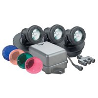 Danner 02391 Pondmaster Submersible Halogen Pond Lightset, Single Light with Transformer