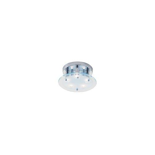 Lyco Ceiling Light Dallas Circular, Halogen, 5 Bulb, Ceiling Light, Polished Chrome/Glass. Max 5 x 40 watt