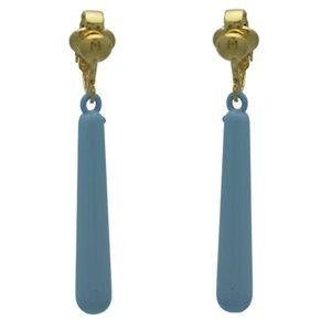 Haze Gold Baby Blue Clip On Earrings