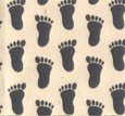 Jiffy Grip fabric for pajama feet - slippers - rugs etc. to prevent slipping 12 x 14 inch grey