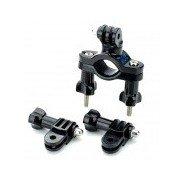TOZ 360 Degree Rotation Handle Bar Bike 3-way Adjustable Holder Set for Gopro Hero 4/ 3+ / 3 / 2 / 1 Black