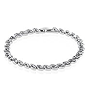 M&S Collection Platinum Plated Navette Diamanté Bracelet