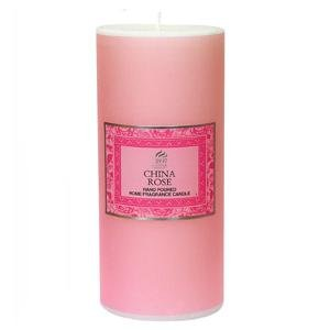 China Rose - Shearer Scented Candle - Pillar - 85 Hours by Shearer Candles