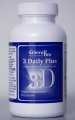 3 Daily Plus - 90 Caps (Multi Vitamin, Enzyme and Amino-acid Blend)