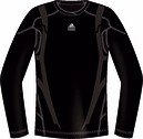 ADIDAS Men's Tech Fit Powerweb Long Sleeve Tee, Black, XL