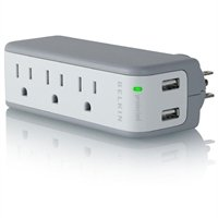 Belkin BZ103050qTVL 3Out/2USB Mini Surge/USB Charg by Belkin Components