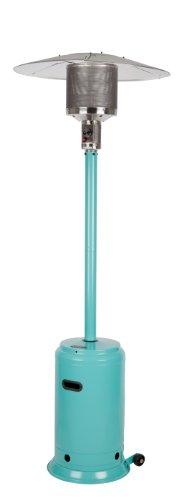 Fire Sense Powder Coated Patio Heater, Aqua Blue