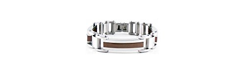 Stainless Steel 08.50 Inch None 10Mm Satin/Polished Bracelet