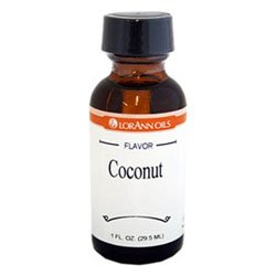 Lorann Hard Candy Flavoring Oil Coconut Flavor 1 Ounce