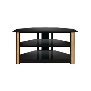 BELLO - HOME AV Bell'O Triple Play Flat Panel Plasma Stand. BELLO TRIPLE PLAY UNIVER FLAT PAN AV SWIVEL TV MT. Glass, Metal, Wood - Black