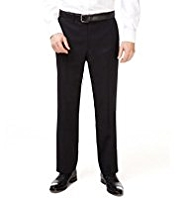 Big & Tall Straight Leg Flat Front Twill Trousers