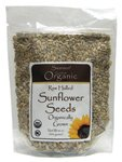 Raw Hulled Sunflower Seeds, Organic 16 oz (454 grams) Pkg