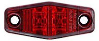 (1) Led Light 2 Diode Red 1X2.5 Surface Mount Clearance Side Marker Trailer