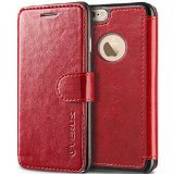 iPhone 6S Case, Verus [Layered Dandy][Wine Red] - [Premium Leather Wallet][Slim Fit][Card Slot] For Apple iPhone 6 6S 4.7