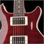 Hamer archtop electric Flame Maple top - Transparent dark cherry finish - Wilkinson tremolo