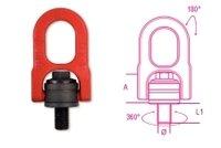 8049M12Beta M12regolabile sollevamento golfari girevole doppio anello in lega di acciaio ad alta resistenza