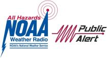 NOAA Weather Radio and Public Alert Certified