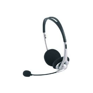 Ge Pc & Mac Stereo Headset Headphone Ge98960 With Boom Microphone Mic And 3.5 Mm Jack