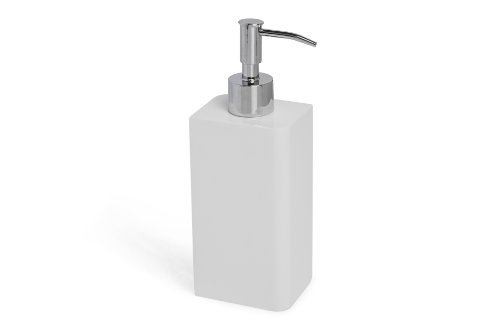 Kassatex Lacca Bath Accessories Lotion Dispenser, White