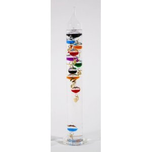 G.W. Schleidt Sh333 Galileo Thermometer 18-Inch Multicolored