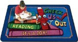"Joy Carpets Kid Essentials Language & Literacy Check Us Out Rug, Multicolored, 3'10"" x 5'4"""
