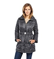 M&S Collection Etched Print Belted Coat with Stormwear™