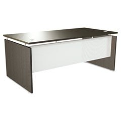 ** SedinaAG Series Straight Front Desk Shell, 66w x 30d x 29-1/2h, Espresso **