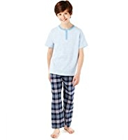 3 Piece Pure Cotton Checked Pyjamas