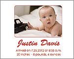 Photo Baby Announcement Cards