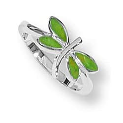Boma Green Turquoise Dragonfly Ring