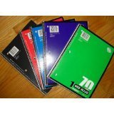 1 Subject, 70 sheets, college ruled, wire bound notebook; package of five (5) notebooks (Norcom Inc Notebook compare prices)