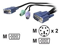 StarTech.com SVECON25 3-Inch-1 Ultra Thin PS/2 KVM Cable