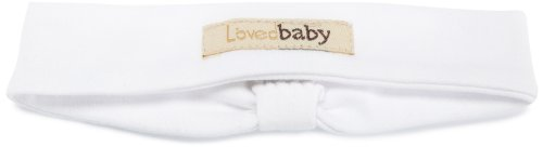 L'Ovedbaby Baby-Girls Infant Headband, Bright White, 6-12 Months front-1038949