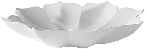 Torre & Tagus Lotus Resin Decor Bowl, Large, White