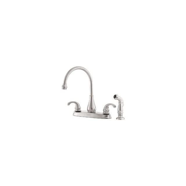 Price Pfister T364DSS Treviso Two Handle Kitchen Faucet   Stainless Steel   Touch On Kitchen Sink Faucets