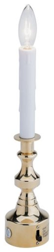 GKI/Bethlehem  Lighting All-in-One 12-Inch Brass Candle Christmas Light with Sensor and Timer