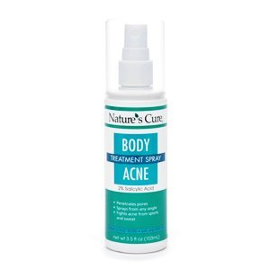 Natures Cure Body Acne Treatment Spray – 3.5 Oz (Pack of 3)
