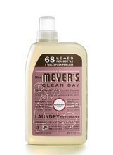 Mrs Meyers Rosemary Laundry Detergent 68 Loads 34 Oz -Pack of 6