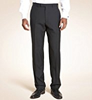 Big & Tall Pure Wool Flat Front Trousers