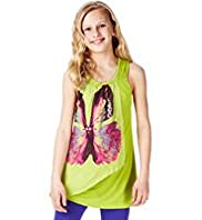 Autograph Layered Butterfly Print Vest Top