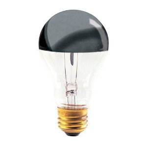40 Watt Silver Bowl Chrome Incandescent Medium