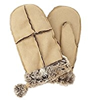 M&S Collection Faux Sheepskin Mittens