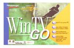 Hauppauge WinTV GO - TV tuner / video input adapter - PCI