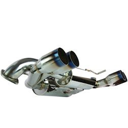 MXP MXSPZ06O Cat-Back Exhaust System with Oval Tip for Chevrolet Corvette