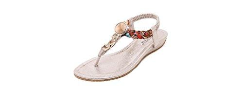 Si& 2016/diamante/pantofole/perline/estate Zeppe/signore/donne/spiaggia/sandali/scarpe , pink , 41