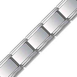 9mm Satin Face Starter Bracelet Italian charm