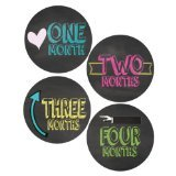 Lollipop Labels Chalkboard Style Monthly Onesie Stickers Baby Photo Prop Newborn Sticker Bodysuit Stickers Chalkboard Stickers