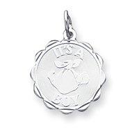 Sterling Silver Its a Boy Charm - JewelryWeb