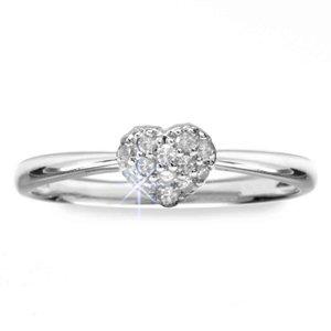 14k White Gold Diamond Heart Promise Ring (0.10 ctw, SI-GH)